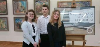 Sukces naszych uczniów w XIV Wojewódzkim Konkursie Literackim