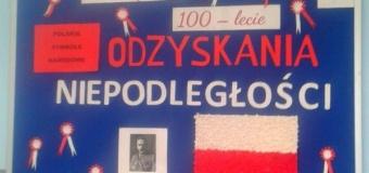 Konkurs na gazetkę ścienną z okazji 100 rocznicy odzyskania niepodległości przez Polskę