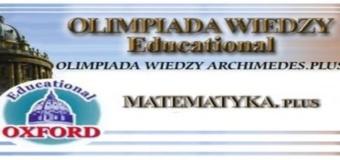 Wyniki Olimpiady Wiedzy Archimedes. Plus – MATEMATYKA. Plus