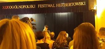 Sukcesy naszych uczniów w XIX Ogólnopolskim Festiwalu Herbertowskim