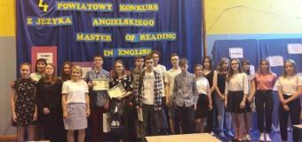 """IV Powiatowy Konkurs z Języka Angielskiego """"Master of Reading in English"""""""