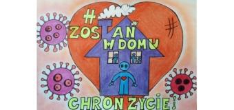 Zostań  w domu – działania plastyczne uczniów naszej szkoły