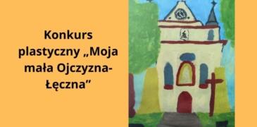 Logo konkursu Moja mała Ojczyzna Łęczna Rysunek kościoła pw. ś. Marii Magdaleny w Łęcznej