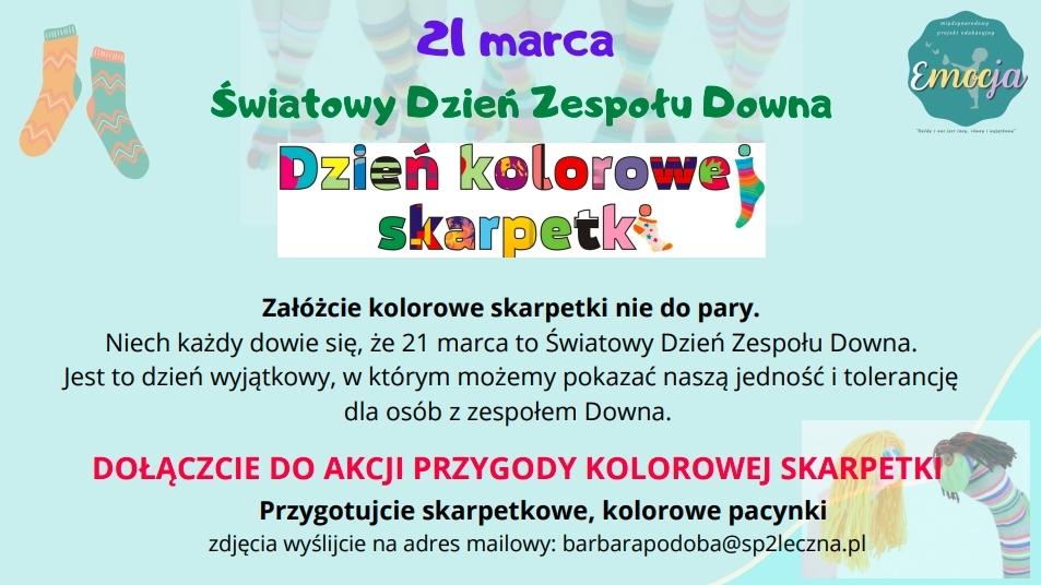 21 marca załóżcie skarpetki nie do pary -plakat