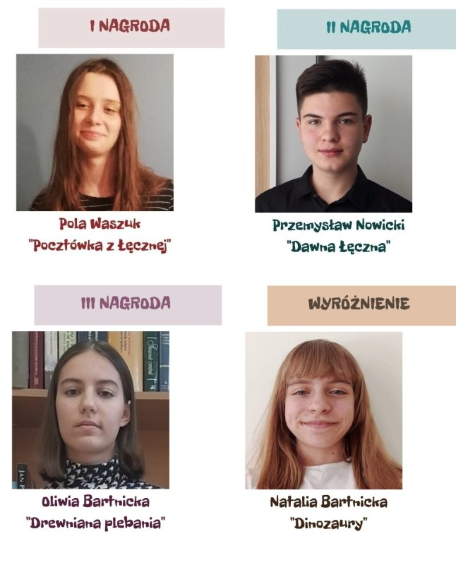 Zdjęcie osób nagrodzonych i wyróżnionych w konkursie